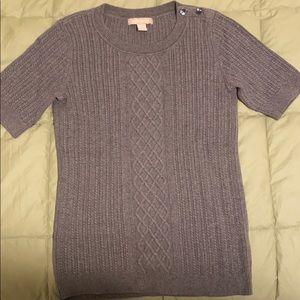 Banana Republic short sleeve cable knit sweater